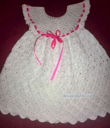 Платье для девочки крючком схема и описание ирисом