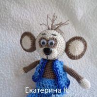 Вязаная обезьяна — символ нового года. Работы Екатерины К.