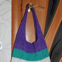 Вязаная сумочка из капронового шнура. Работа Ольги Павловой