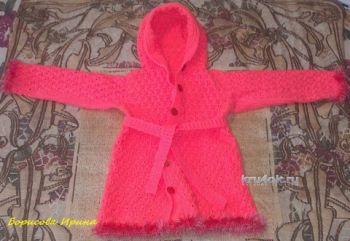 Детское пальто крючком. Работы Ирины. Вязание крючком.