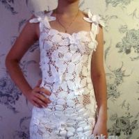Вязаное платье. Работа Людмилы