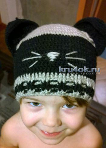 Детские шапочки. Работы Анны Назаренко. Вязание крючком.