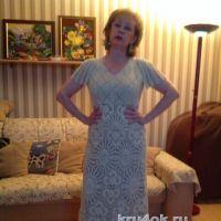 Платье крючком. Работа Марии