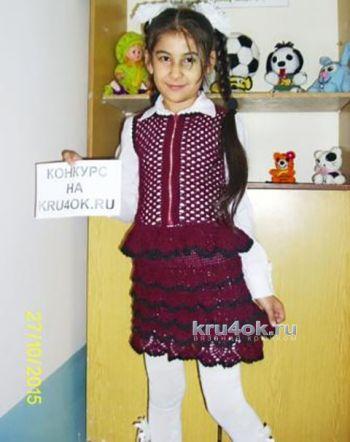Жилет и юбка для девочки. Работы Наргисы
