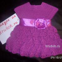 Платье для девочки крючком. Работа Натальи