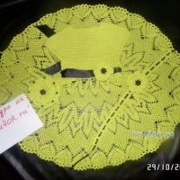Вязаное детское платье. Работа Натальи