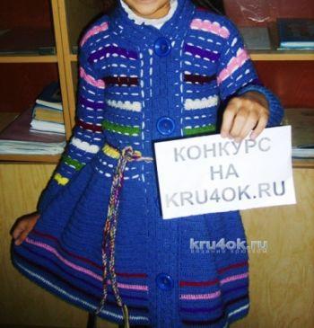 Детский кардиган крючком от Наргисы для девочки