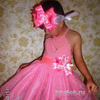 Праздничное платье для девочки. Работа Натальи