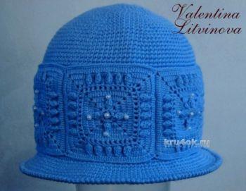 Шляпка зимняя крючком. Работа Валентины Литвиновой