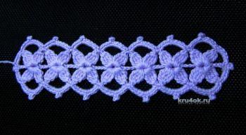 Мастер – класс по вязанию ленточного кружева от Валентины Литвиновой. Вязание крючком.