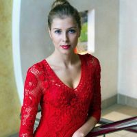 Вязаное крючком платье. Работа Людмилы Малиновской