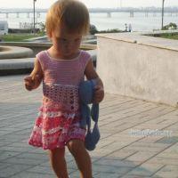 Платье для девочки. Работа Елены