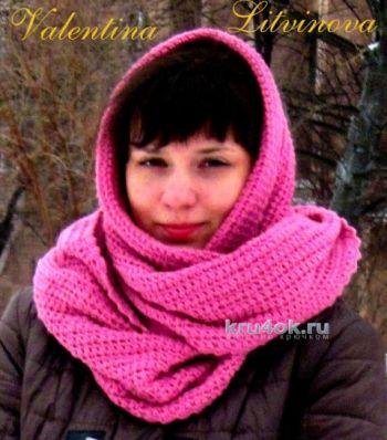 Снуд крючком. Работа Валентины Литвиновой. Вязание крючком.