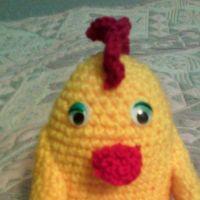 Игрушка цыпленок. Работа Анны
