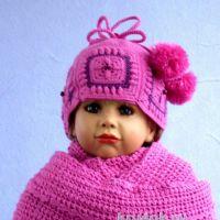 Снуд и шапочка для девочки. Работы Валентины Литвиновой