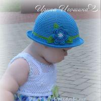 Шляпка — панамка для девочки. Работа Ирины Игошиной