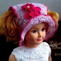 Летняя шапочка для девочки. Работа Валентины Литвиновой