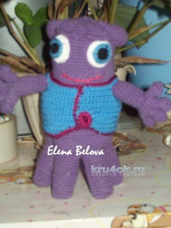 Игрушка инопланетянин крючком. Работа Елены. Вязание крючком.