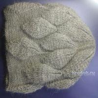 МК по вязанию шапочки с листиками от Ефимии Андреевских