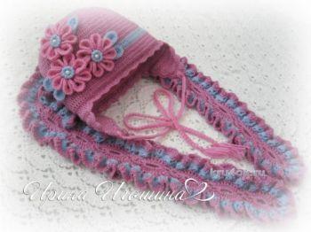 Комплект для девочки Весенний: шапочка и шарф крючком