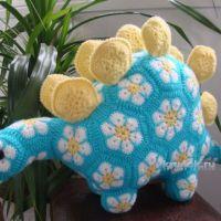 Динозавр из мотивов Африканский цветок