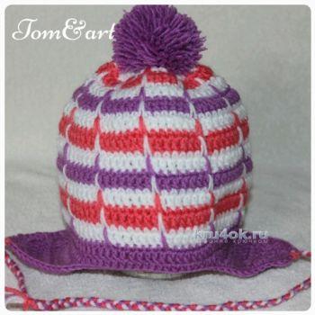 Детские шапочки крючком. Работы Тамары. Вязание крючком.