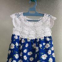 Детское платье комбинированное. Работа Татьяны Бажановой