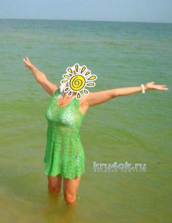 Пляжное платье. Работа Елены Шевчук. Вязание крючком.