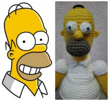 Гомер <i>схемами</i> Симпсон крючком. Работа Ксении