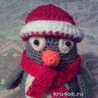 Вязаная игрушка пингвин. Работа Анны