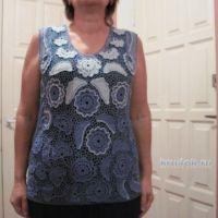 Летняя блуза крючком. Работа Любови