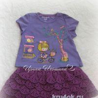 Вязаная юбочка для девочки. Работа Ирины Игошиной