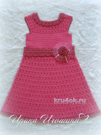 летние вязаные на машинке платья