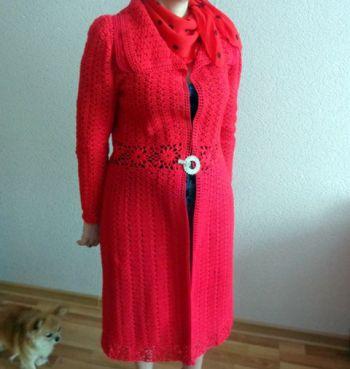 Летнее пальто крючком. Работа Надежды Лавровой. Вязание крючком.