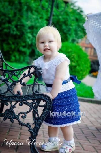 Платье Маленькая леди. Работа Ирины Игошиной. Вязание крючком.