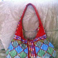 Пляжная сумка крючком. Работа Татьяны