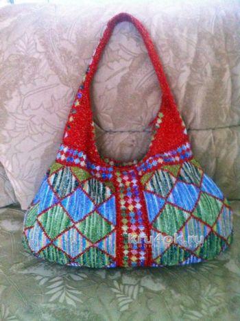 Пляжная сумка крючком. Работа Татьяны. Вязание крючком.