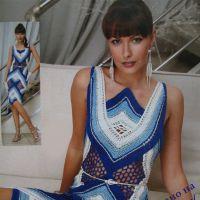 Платье из лент