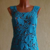 Вязаное крючком платье. Работа Оксаны