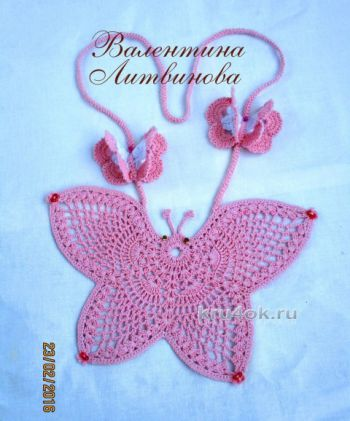 Бабочка - оберег крючком, работа Валентины Литвиновой