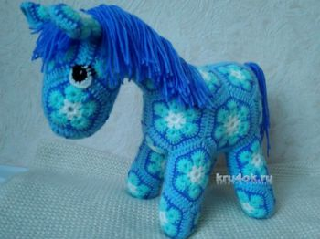 Лошадка из мотивов, схемы вязания игрушки