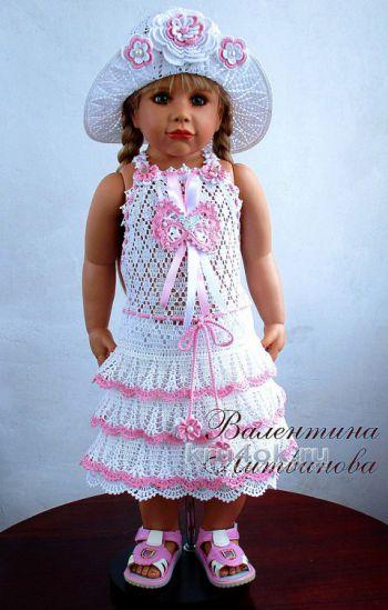 Комплект Изабелла. Авторская работа Валентины Литвиновой. Вязание крючком.