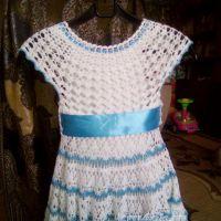Детское платье крючком. Работы Ирины