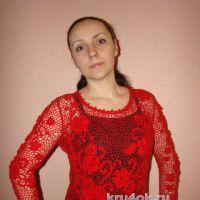 Пуловер Магия цвета. Работа Евгении Руденко