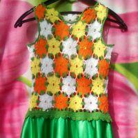 Детское платье Апельсиновое настроение. Работа Ирины