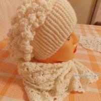 Шапка и шарф крючком. Работы Натальи