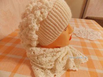 Шапка и шарф крючком. Работы Натальи. Вязание крючком.