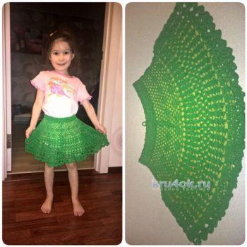 Вязание крючком летней юбки для девочки