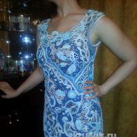 Платье в технике ирландское кружево. Работа Людмилы Максютовой