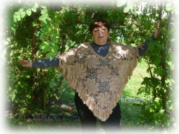 Вязаное пончо для женщины от Галины Леоновой